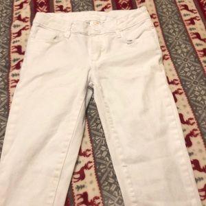 Kids size 8 white pants
